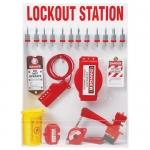 Brady 99697, Large Lockout Station with Steel Padlocks