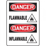 "Accuform FBMCHG046XT, Dura-Plastic Bilingual Sign ""Danger, Flammable"""