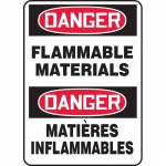 """Accuform FBMCHG052XF, Bilingual Sign """"Danger, Flammable Materials"""""""