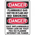"""Accuform FBMCHG062XF, Sign """"Danger, Flammable Gas. No Smoking"""""""