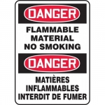 """Accuform FBMCHL055XF, Bilingual Sign """"Danger, Flammable Material…"""""""