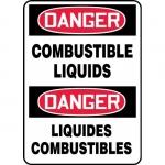 """Accuform FBMCHL199XL, Bilingual Sign """"Danger, Combustible Liquids"""""""