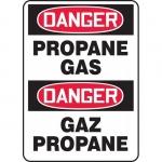 "Accuform FBMCHL217VA, Bilingual Safety Sign ""Danger, Propane Gas"""