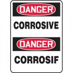 "Accuform FBMCHL222VP, Bilingual OSHA Danger Safety Sign ""Corrosive"""