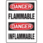 "Accuform FBMCHL231VP, Bilingual Safety Sign ""Danger, Flammable"""
