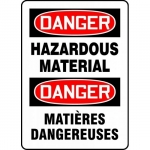 "Accuform FBMCHL287XP, Safety Sign ""Danger, Hazardous Material"""