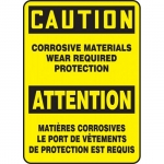"""Accuform FBMCHL610XF, Sign """"Caution, Corrosive Materials Wear …"""""""