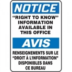"""Accuform FBMCHM825XT, Notice Sign """"Right to Know Information…"""""""