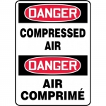 """Accuform FBMCPG004VS, Bilingual Safety Sign """"Danger, Compressed Air"""""""