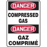 "Accuform FBMCPG104VA, Bilingual Safety Sign ""Danger, Compressed Gas"""