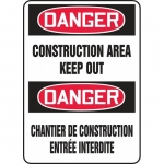 "Accuform FBMCRT011VP, Safety Sign ""Danger, Construction Area Keep Out"""