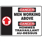 "Accuform FBMCRT014XT, Safety Sign ""Danger, Men Working Above"""