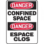 """Accuform FBMCSP002XT, Bilingual Safety Sign """"Danger, Confined Space"""""""