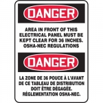 """Accuform FBMELC002XF, Sign """"Danger, Area In Front of This…"""""""