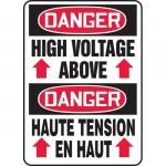 "Accuform FBMELC011XT, Bilingual Sign ""Danger, High Voltage"""