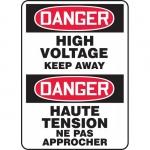 "Accuform FBMELC040XT, Safety Sign ""Danger, High Voltage Keep Away"""