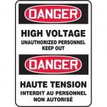 "Accuform FBMELC082XT, Sign ""Danger, High Voltage Unauthorized…"""