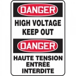 """Accuform FBMELC129XT, Safety Sign """"Danger, High Voltage Keep Out"""""""