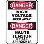 """Accuform FBMELC148XV, Safety Sign """"Danger, High Voltage Keep Away"""""""