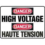 """Accuform FBMELC149VP, Safety Sign """"Danger, High Voltage"""" Plastic"""