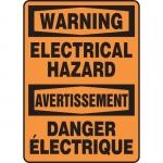 "Accuform FBMELC330VS, OSHA Warning Safety Sign ""Electrical Hazard"""