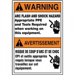 """Accuform FBMELC361VS, Safety Sign """"Arc Flash and Shock Hazard…"""""""