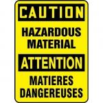 """Accuform FBMELC643VS, Safety Sign """"Caution, Hazardous Material"""""""