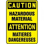 """Accuform FBMELC644VS, Safety Sign """"Caution, Hazardous Material"""""""