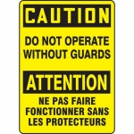 """Accuform FBMEQC721XF, Safety Sign """"Caution, Do Not Operate Without…"""""""