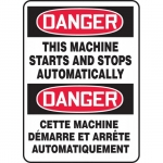 """Accuform FBMEQM152XT, Safety Sign """"Danger, This Machine Starts and…"""""""
