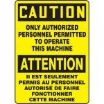 "Accuform FBMEQM715XV, OSHA Caution Safety Sign ""Only Authorized…"""