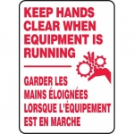 """Accuform FBMEQT501XF, Operation Hazards Sign """"Keep Hands Clear …"""""""
