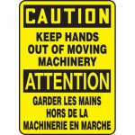 "Accuform FBMEQT601VP, Sign ""Caution, Keep Hands Out of Moving …"""