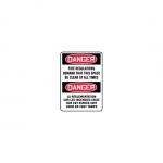 """Accuform FBMEXT101XL, Safety Sign """"Danger, Fire Regulations Demand…"""""""