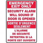 "Accuform FBMEXT566XP, Emergency Exit Only Safety Sign ""Security…"""