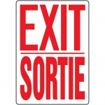 "Accuform FBMEXT907XV, Bilingual Sign ""Exit"" Adhesive Dura-Vinyl"