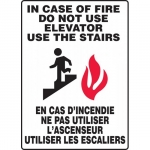 """Accuform FBMEXT913XL, Safety Sign """"In Case Of Fire Do Not Use …"""""""
