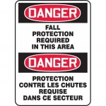 """Accuform FBMFPR008XF, Sign """"Danger, Fall Protection Required In …"""""""