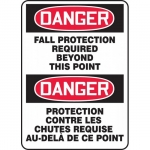 """Accuform FBMFPR106XF, Safety Sign """"Danger, Fall Protection …"""""""