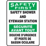"""Accuform FBMFSD910XL, Sign """"Safety First, Safety Shower and …"""""""
