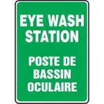 """Accuform FBMFSD988XT, Bilingual Safety Sign """"Eye Wash Station"""""""