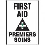 "Accuform FBMFSR507XT, Bilingual Sign ""First Aid"" Dura-Plastic"