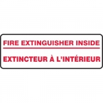 "Accuform FBMFXG933XP, Bilingual Safety Sign ""Fire Extinguisher Inside"""
