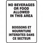 """Accuform FBMHSK597VS, Bilingual Sign """"No Beverages…"""" Vinyl"""