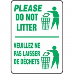 "Accuform FBMHSK966VS, Bilingual Sign ""Please, Do not Litter"""