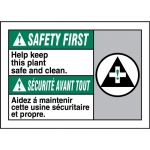 """Accuform FBMHSK977VP, Bilingual ANSI Sign """"Safety First, Help Keep…"""""""