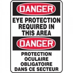 """Accuform FBMPPA007XF, Bilingual Sign """"Danger, Eye Protection…"""""""