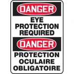 """Accuform FBMPPA109XF, Bilingual Danger Sign """"Eye Protection…"""""""