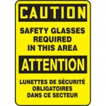 """Accuform FBMPPA617VS, Bilingual Sign """"Caution, Safety Glasses…"""""""