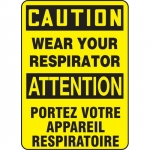 "Accuform FBMPPA654VP, Sign ""Caution, Wear Your Respirator"""
